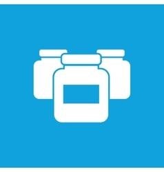 Medicine jars icon simple vector