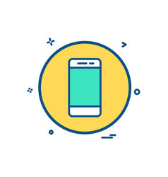 mobile phone basic icon design vector image