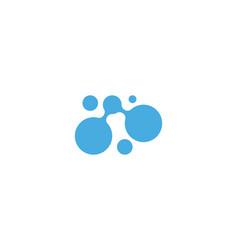 molecule design vector image