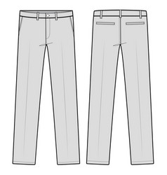 pants formal trousers fashion flat sketch template vector image