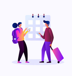 planning for traveling different place vector image