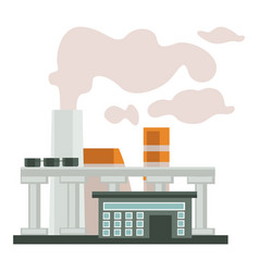 Plants and factories smoke chimneys or pipes vector