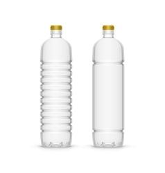 Plastic Sunflower Olive Oil Blank Bottle vector image