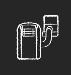 Portable air conditioner chalk white icon vector