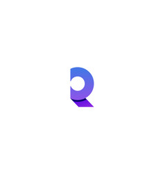 R monogram logo design template vector