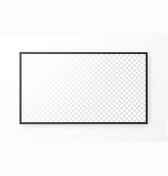 realistic television screen on white background vector image