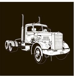 Retro truck classic diesel vehicle cargo isolated vector