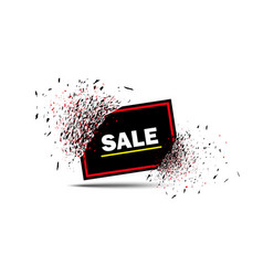 sale banner with explosion effect with red frame vector image