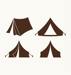 Set of tents for logo vector