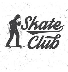 skate club badge vector image