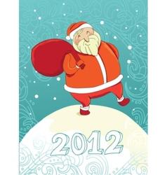 smiling santa 2012 vector image