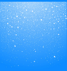 snowfall isolated on blue background winter vector image
