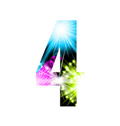 sparkler firework figure isolated on white vector image
