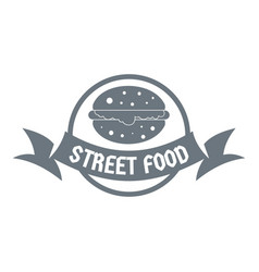 Street burger logo simple gray style vector