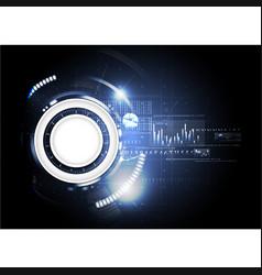 Technological abstract digital blueprint vector