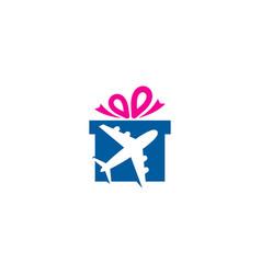 Travel gift logo icon design vector