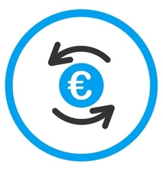 Update Euro Balance Rounded Icon vector