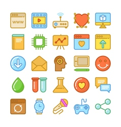Web Design and Development Colored Icons 8 vector image