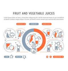 Website banner and landing page fruit vector