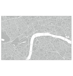 white and grey city map london vector image