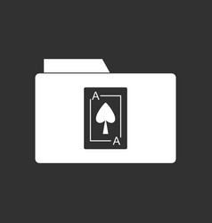 White icon on black background playing card on vector