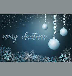 winter holiday background with snow vector image