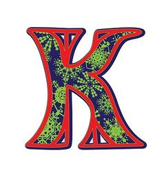 Winter letter K vector