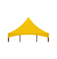 Yellow tent icon flat style vector