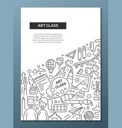 art class - line design brochure poster template vector image