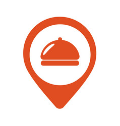 fod icon restaurant location pin icon vector image vector image