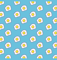 fried eggs background design vector image vector image