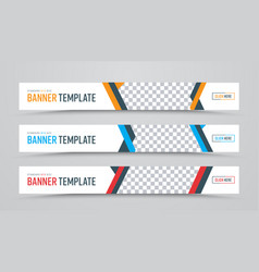 design of horizontal white banners of standard vector image vector image