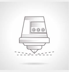 Industrial laser cutter vintage icon vector