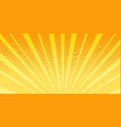 orange rays sunrise abstract background vector image vector image