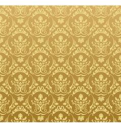 seamless wallpaper background floral vintage gold vector image vector image