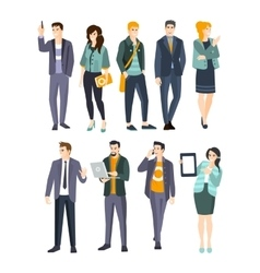 Young Professionals Set Of Cool People vector image vector image