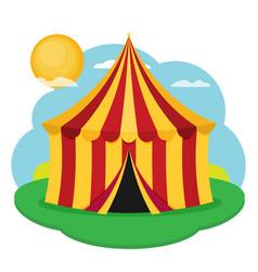 circus tent flat design vector image
