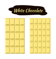 white chocolate in flat style sweet organic cacao vector image vector image
