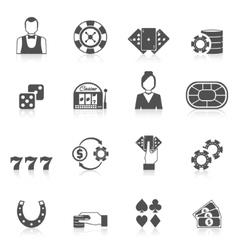 Casino Icon Black vector image