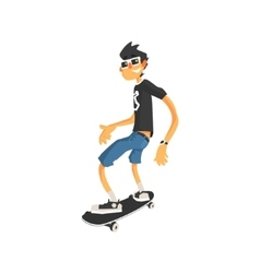 Guy in Shades On Skateboard vector image vector image