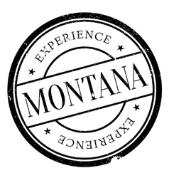 Montana stamp rubber grunge vector image