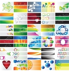 Various 90 colorful banners - collection vector image