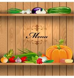 Vegetables Shelf Menu vector image