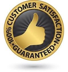 100 percent customer satisfaction guaranteed vector image