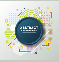 abstract background and blue emblem vector image