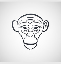ape logo icon design vector image