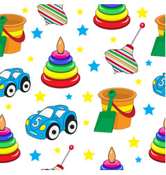 Baby toys seamless texture children s wallpaper vector