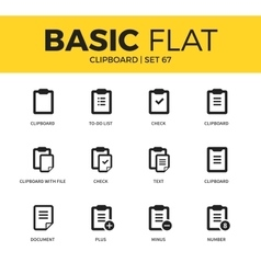 Basic set of clipboards icons vector