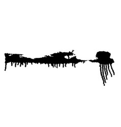 Black paint drips vector