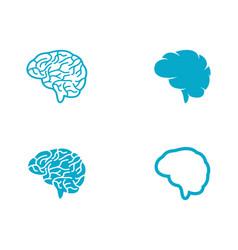 Brain icon template vector